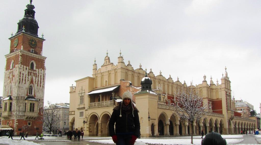 Torre del antiguo Ayuntamiento y Mercado de Cracovia