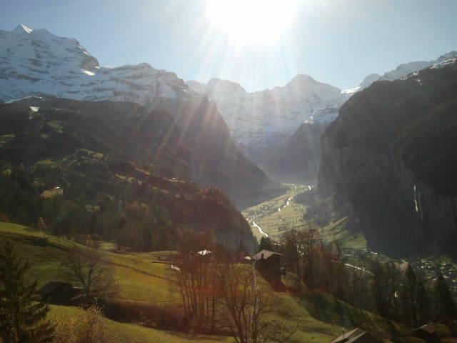 Vista sobre el Valle de Lauterbrunnen