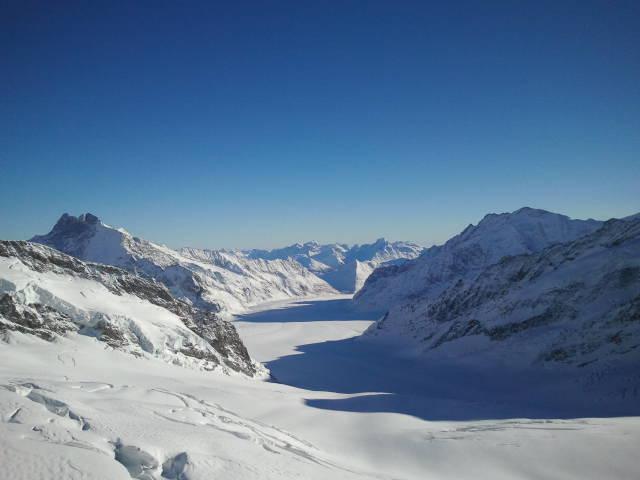 Nacimiento del glaciar Aletsch