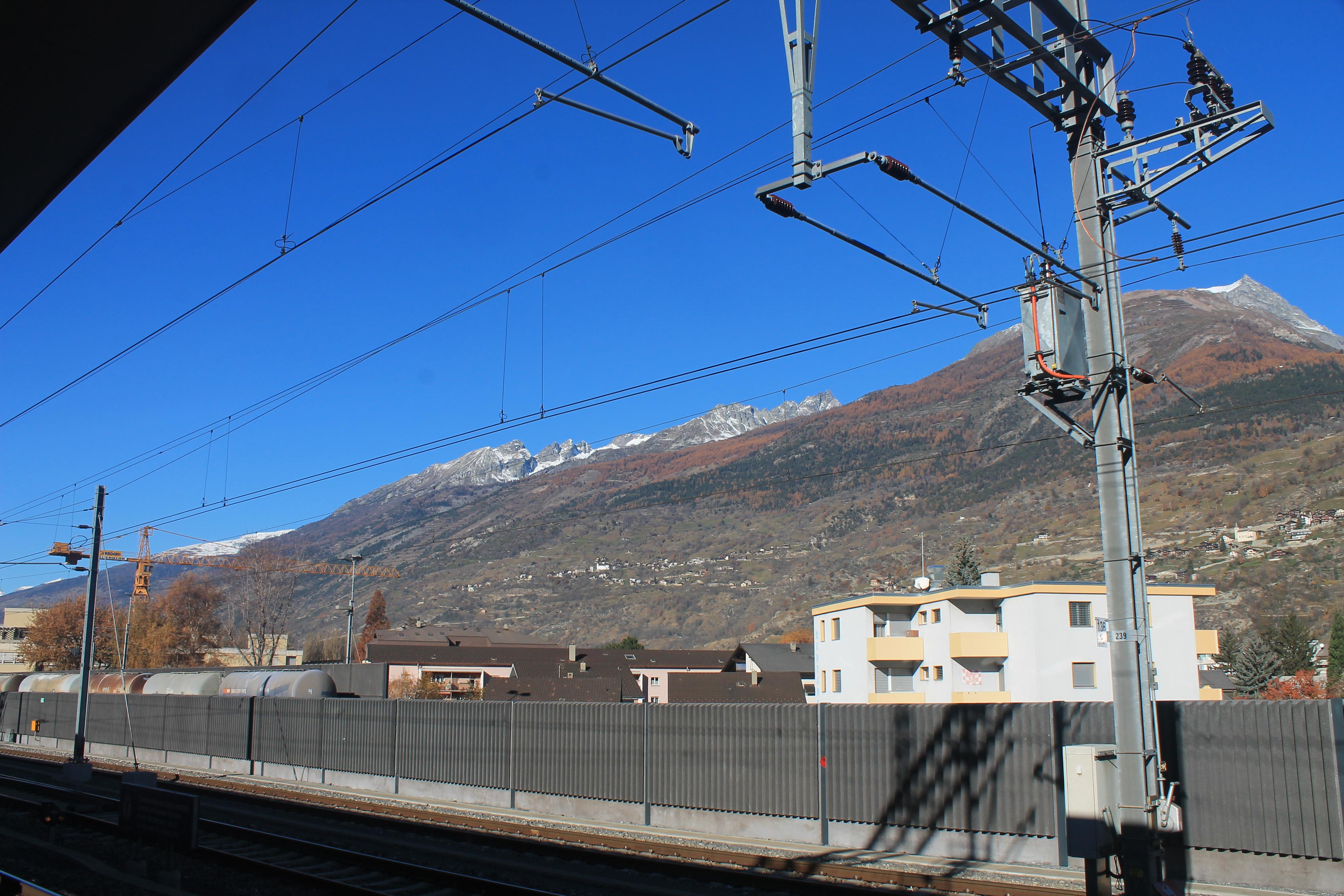 Cómo llegar a Zermatt en tren; conexión en Visp