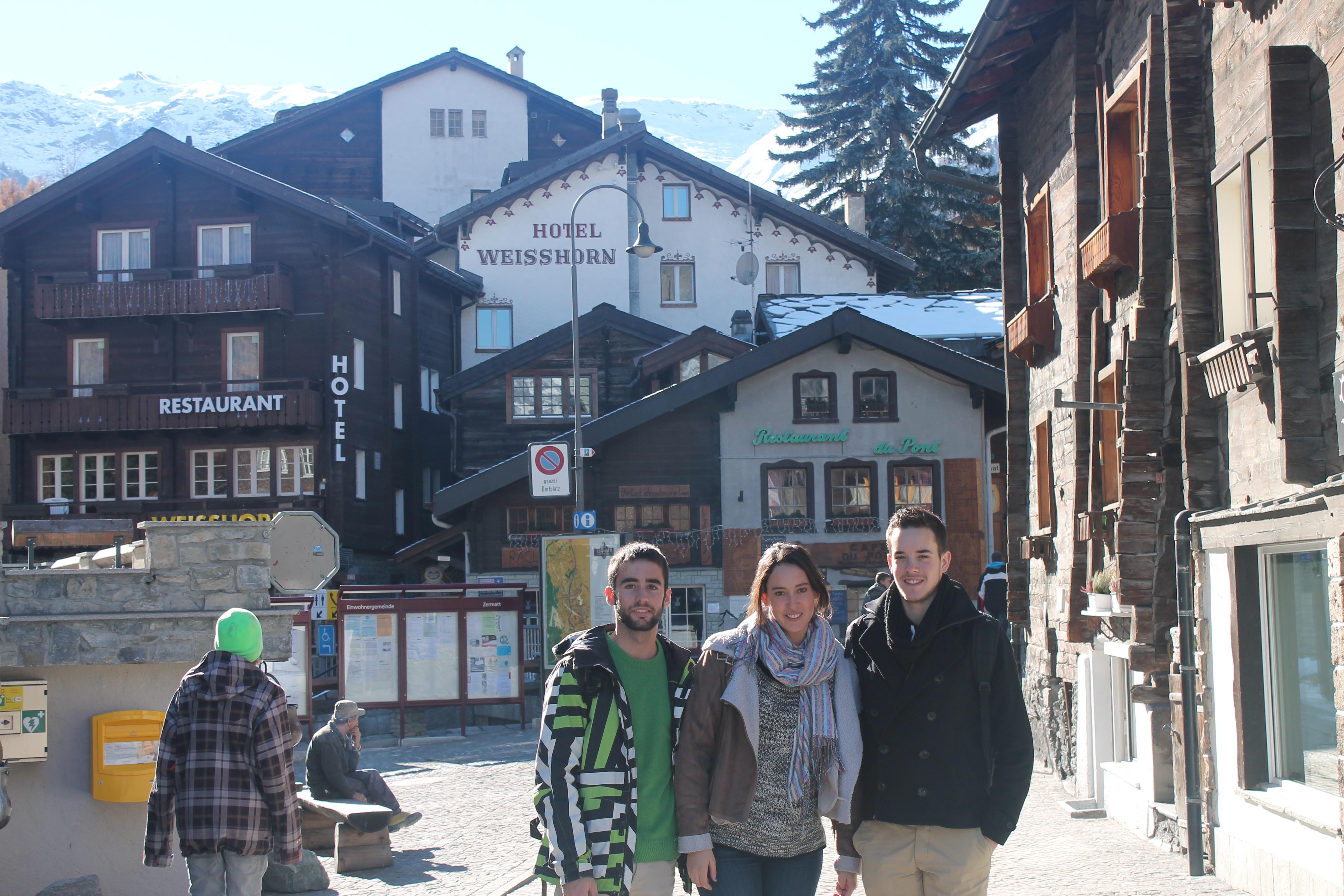 Casas típicas de los Alpes