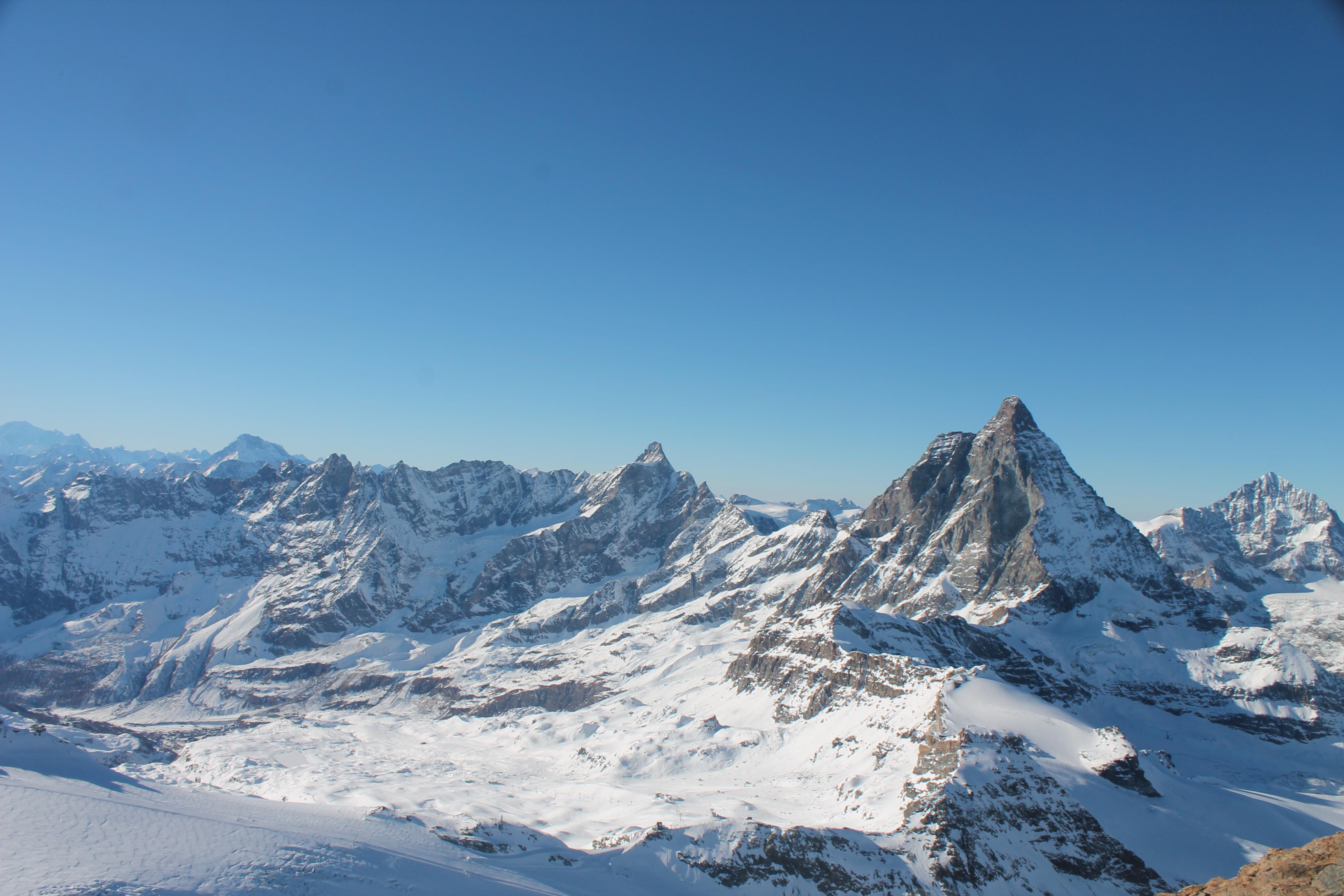 Vista del Matterhorn / Cervino desde Klein Matterhorn