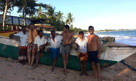 Pescadores en Tangalle (Sri Lanka)