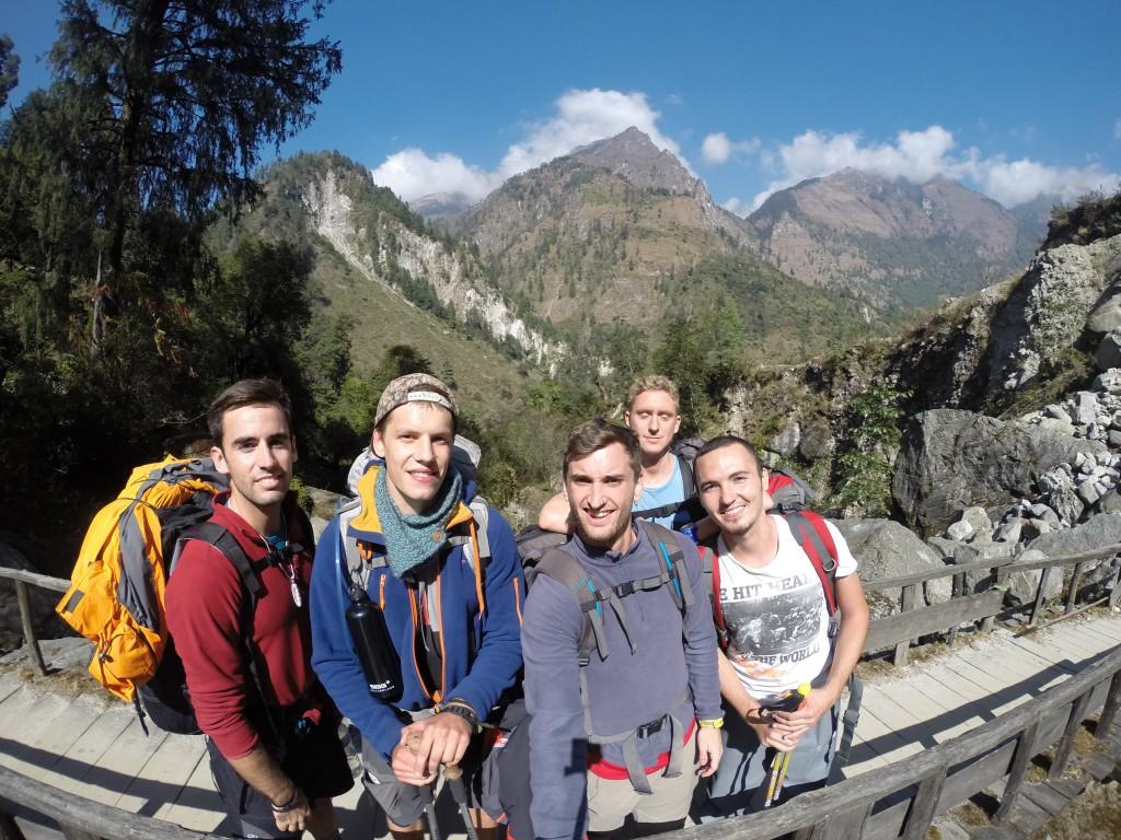 El equipo para elTrekking del Annapurna