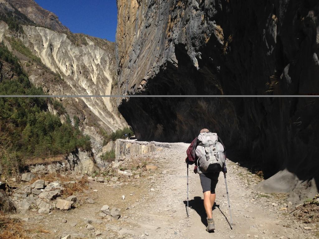 Subida en el Trekking del Annapurna