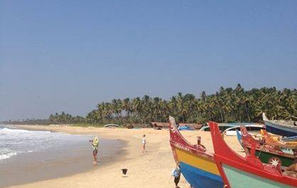 Playa de Varkala en India