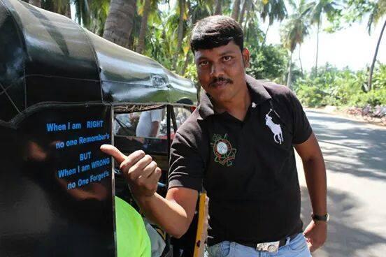 Vikram One & Only Rickshaw; nuestro guía en Hampi
