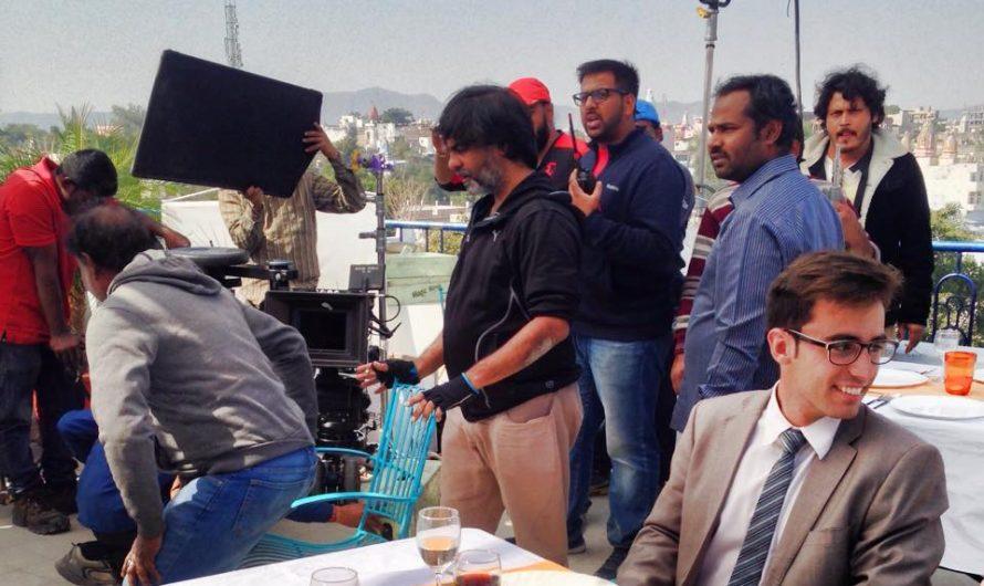 Grabando un anuncio para la televisión india