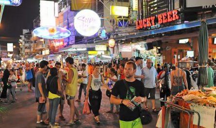 Khaosan Road en Bangkok (Tailandia)