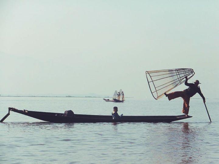 Pescadores en el Lago Inle (MYanmar