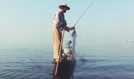 Pescador en Lago Inle Myanmar