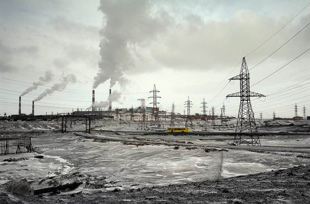 Fábricas en Norilsk (Fotografía de )