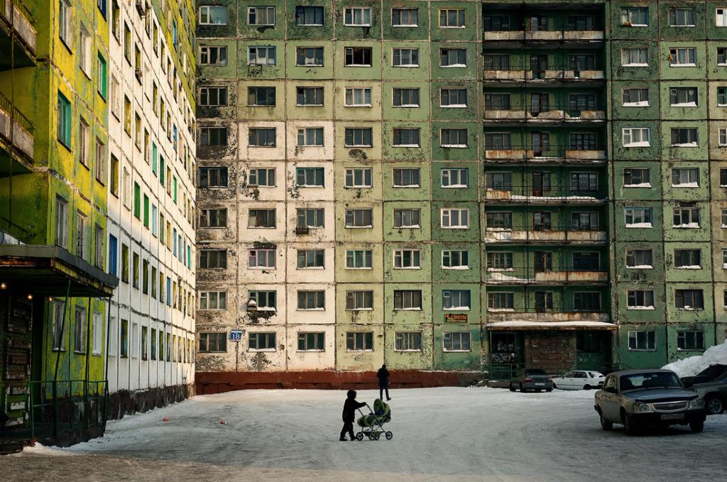 Edificios diseñados en la década de los 40 (Fotografía de Elena Chernyshova)