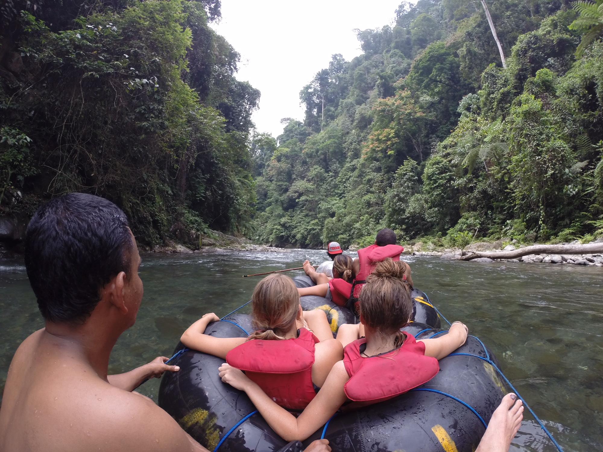 Tubing en Bukit Lawang