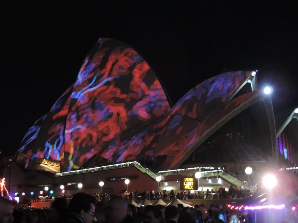 Qué ver en Sídney, La Casa de la Ópera de Sídney durante el Vivid; el festival de las luces