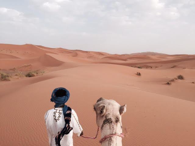 Ruta en camello por las dunas de Merzouga (Marruecos)
