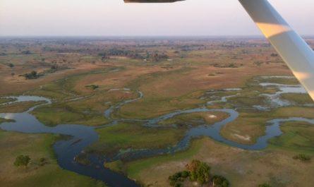 Delta del Okavango en avioneta