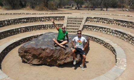 Meteorito en Namibia