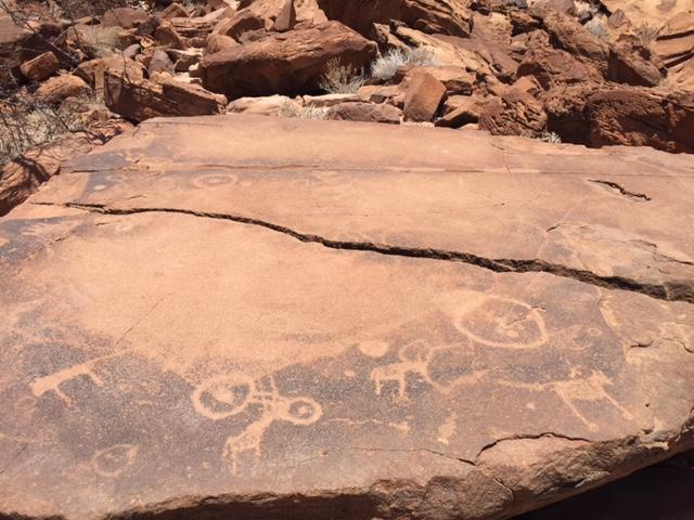 Mapa Twyfelfontein Petroglifo