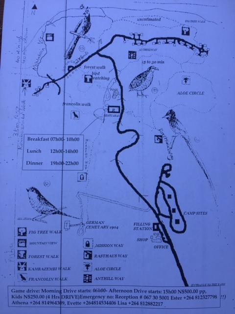 Waterberg Plateau map