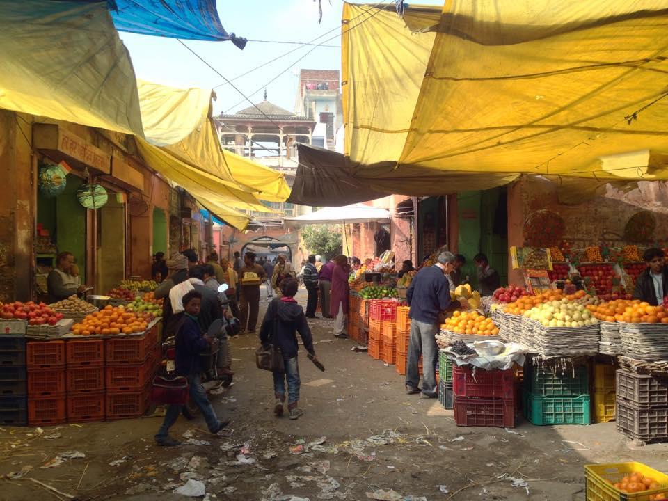 Mercado local en Jaipur (India)