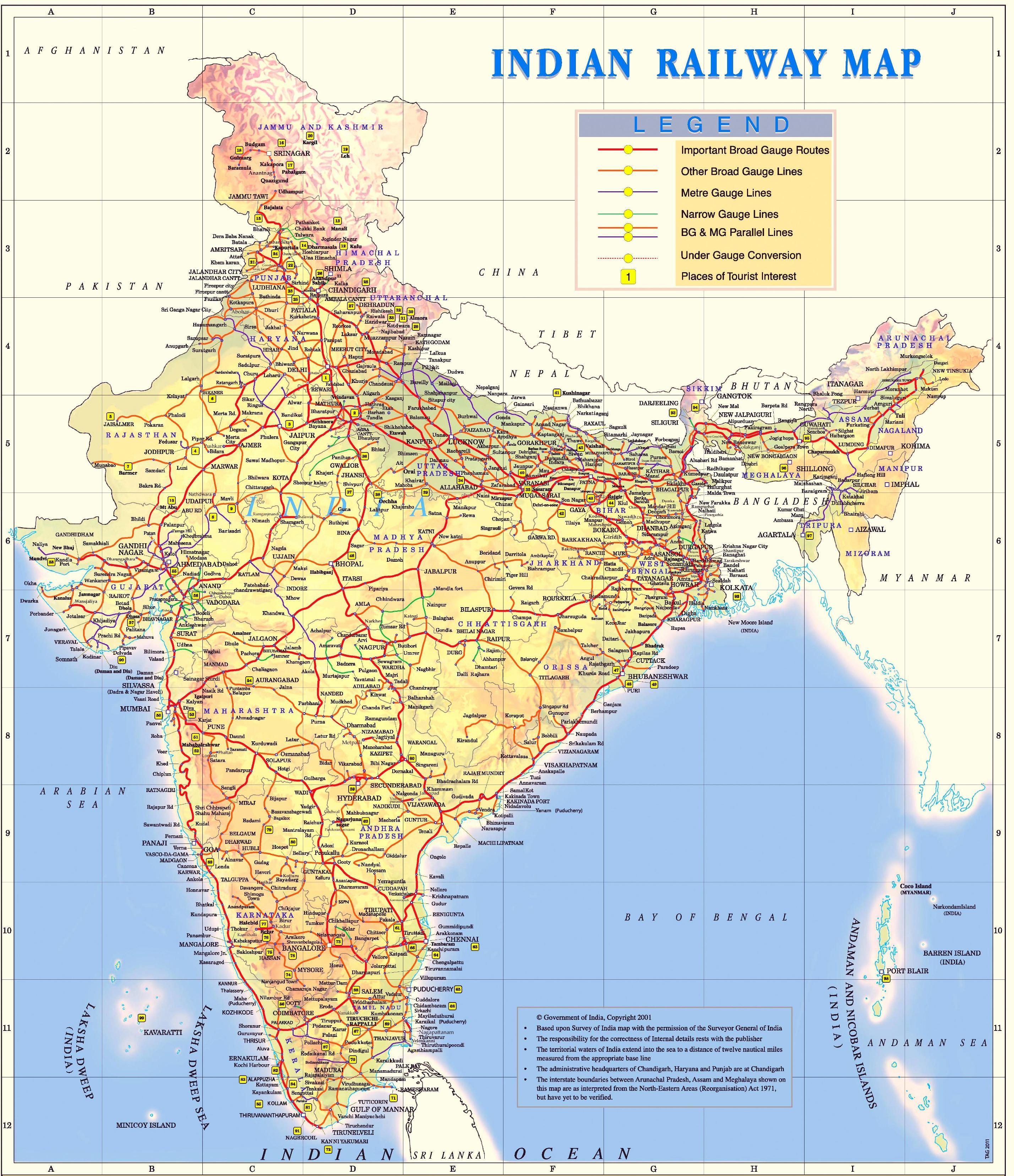 Mapa Tren India