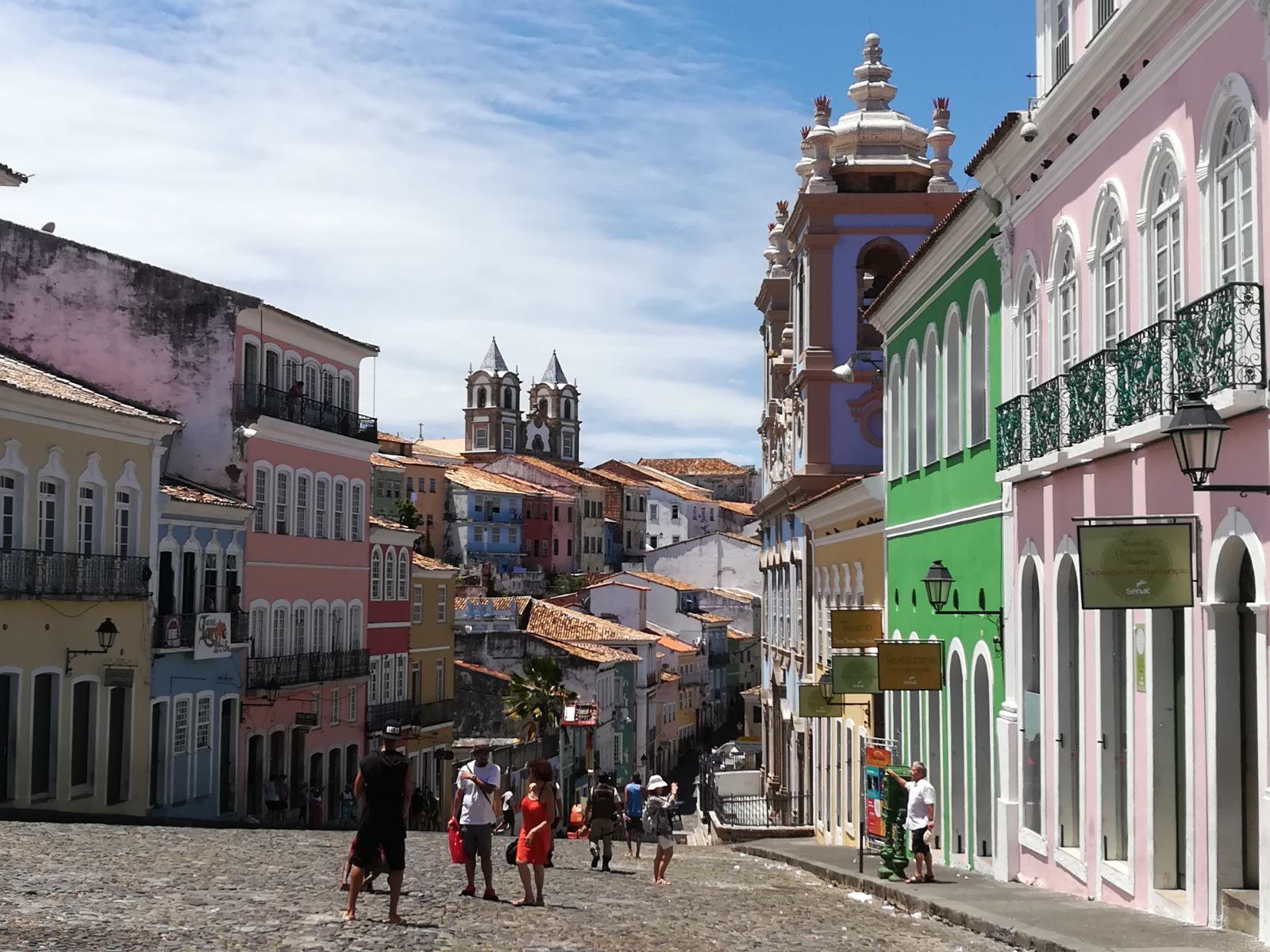 Vista del Pelourinho, el barrio histórico de Salvador de Bahía