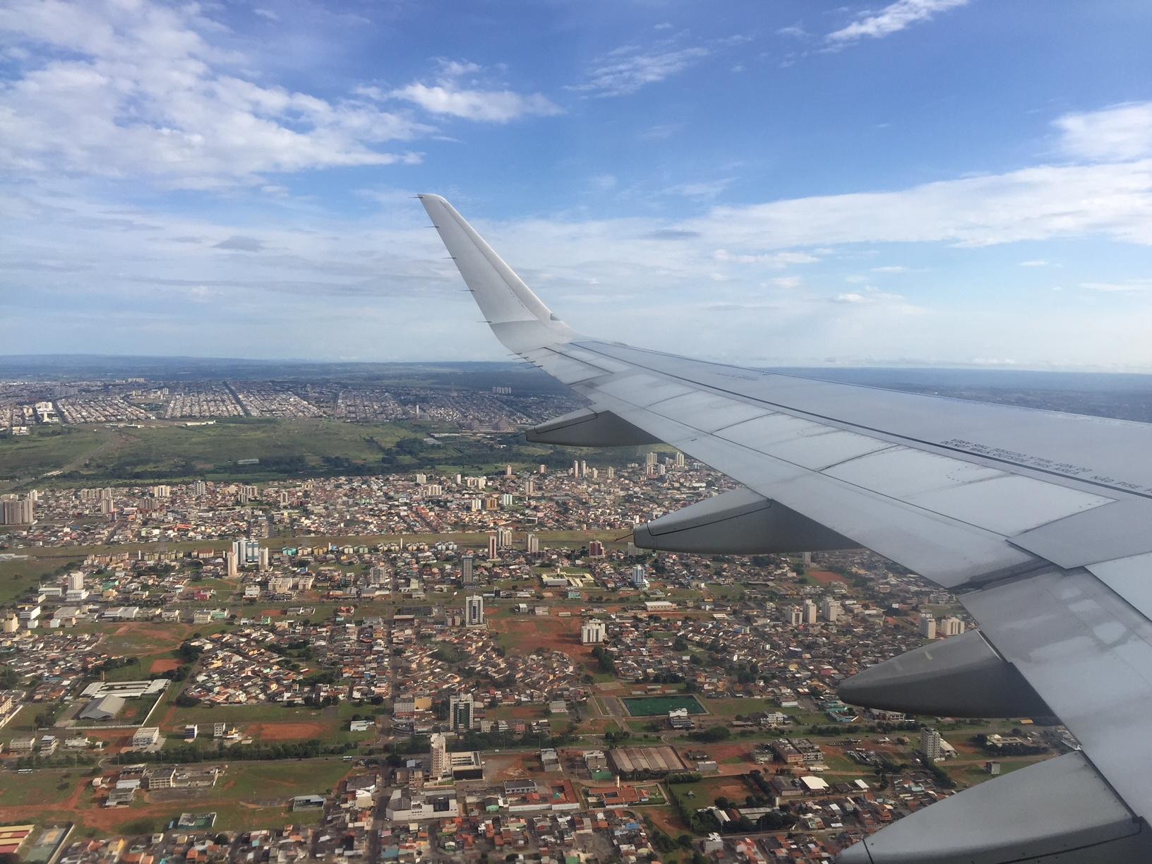 Vista aérea de Brasilia. Llegando a visitar Brasilia en 2 días