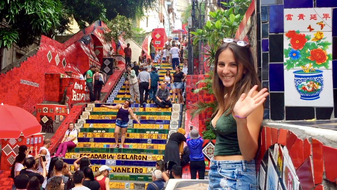 Escalera de Selaron, en el centro de Rio