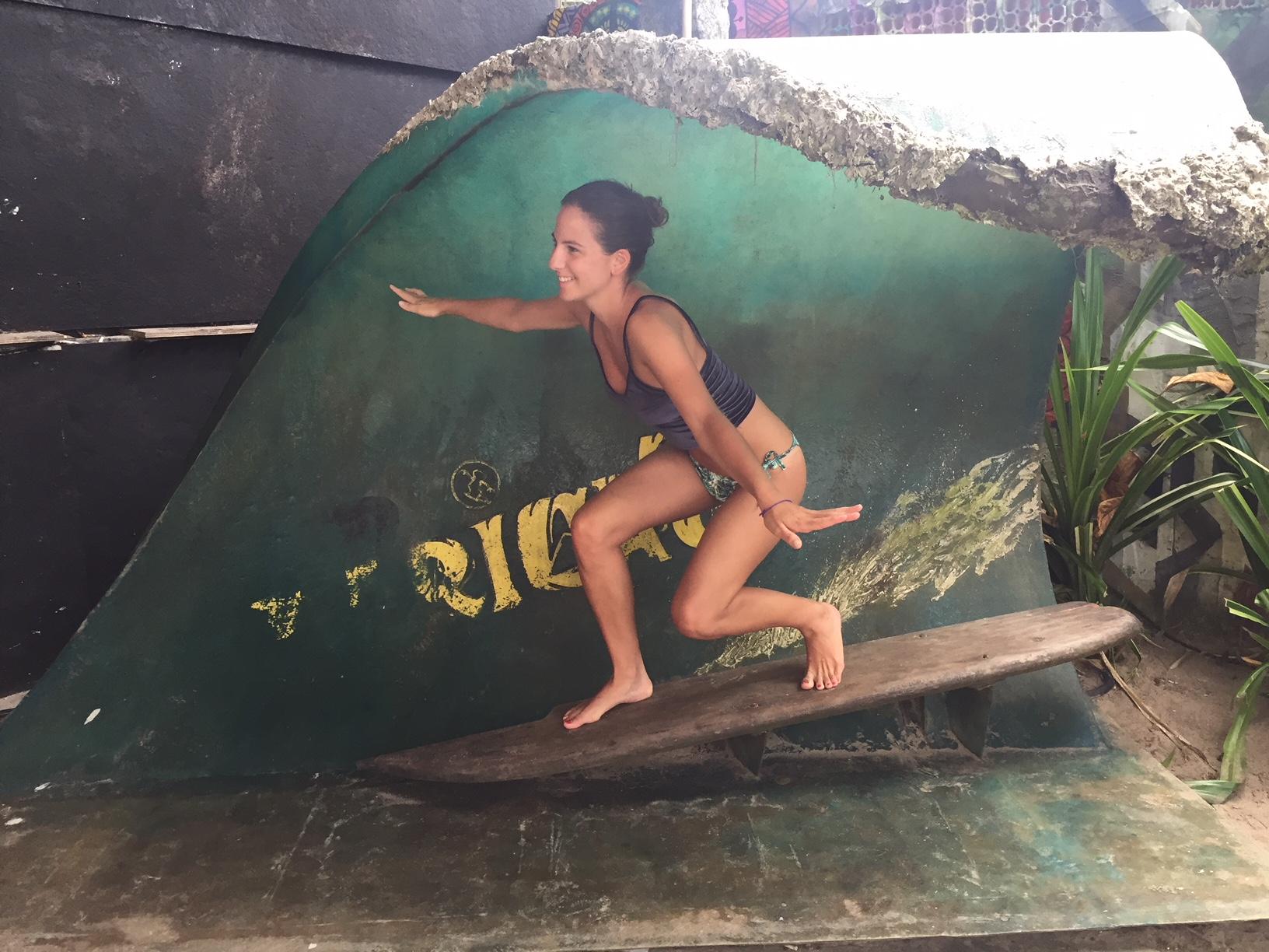 """Miren """"surfeando"""" en Playa Blanca"""
