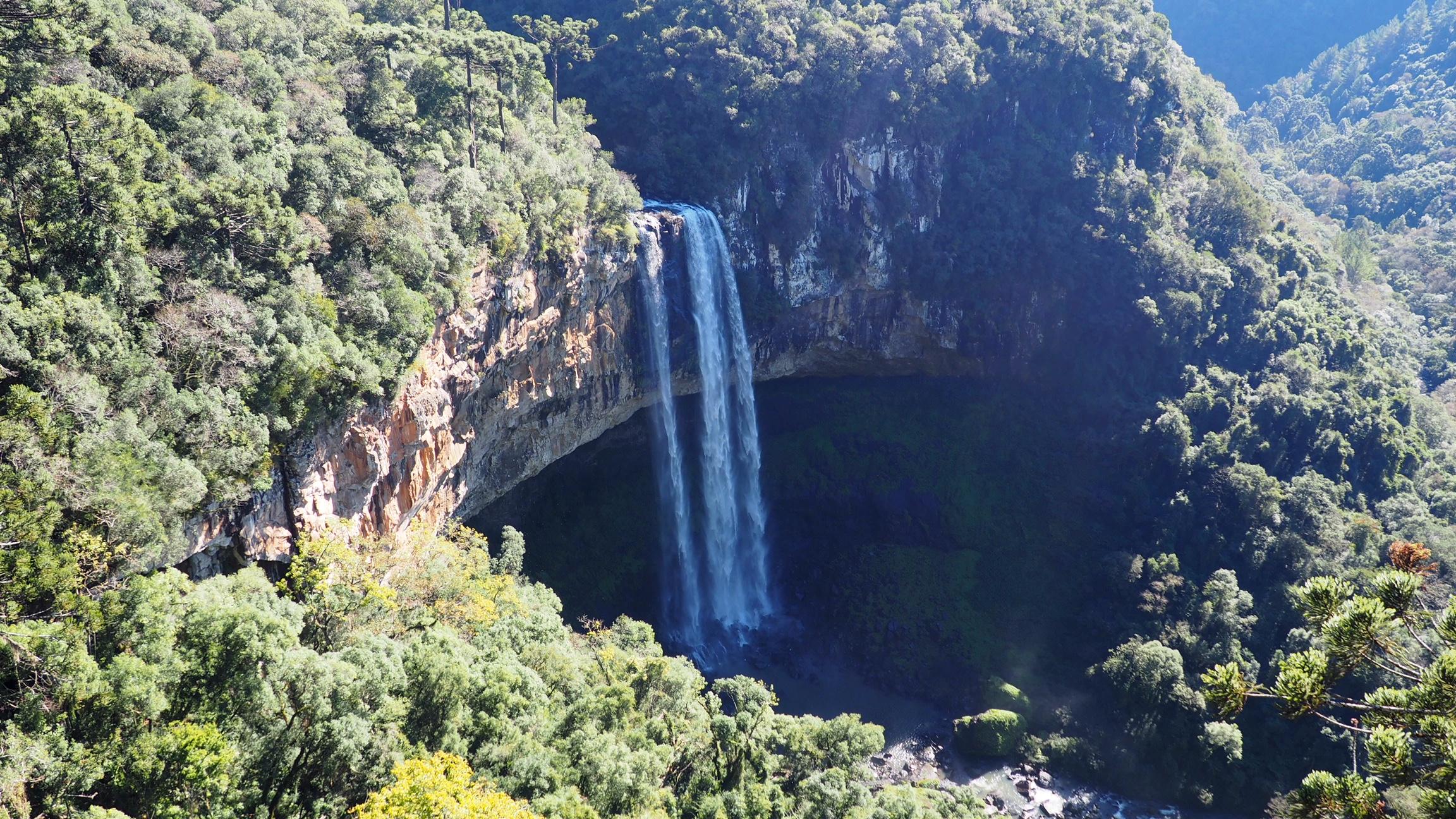 La Cascada del Caracol, en los alrededores de Gramado. Una de las cosas que visitar en Gramado y alrededores