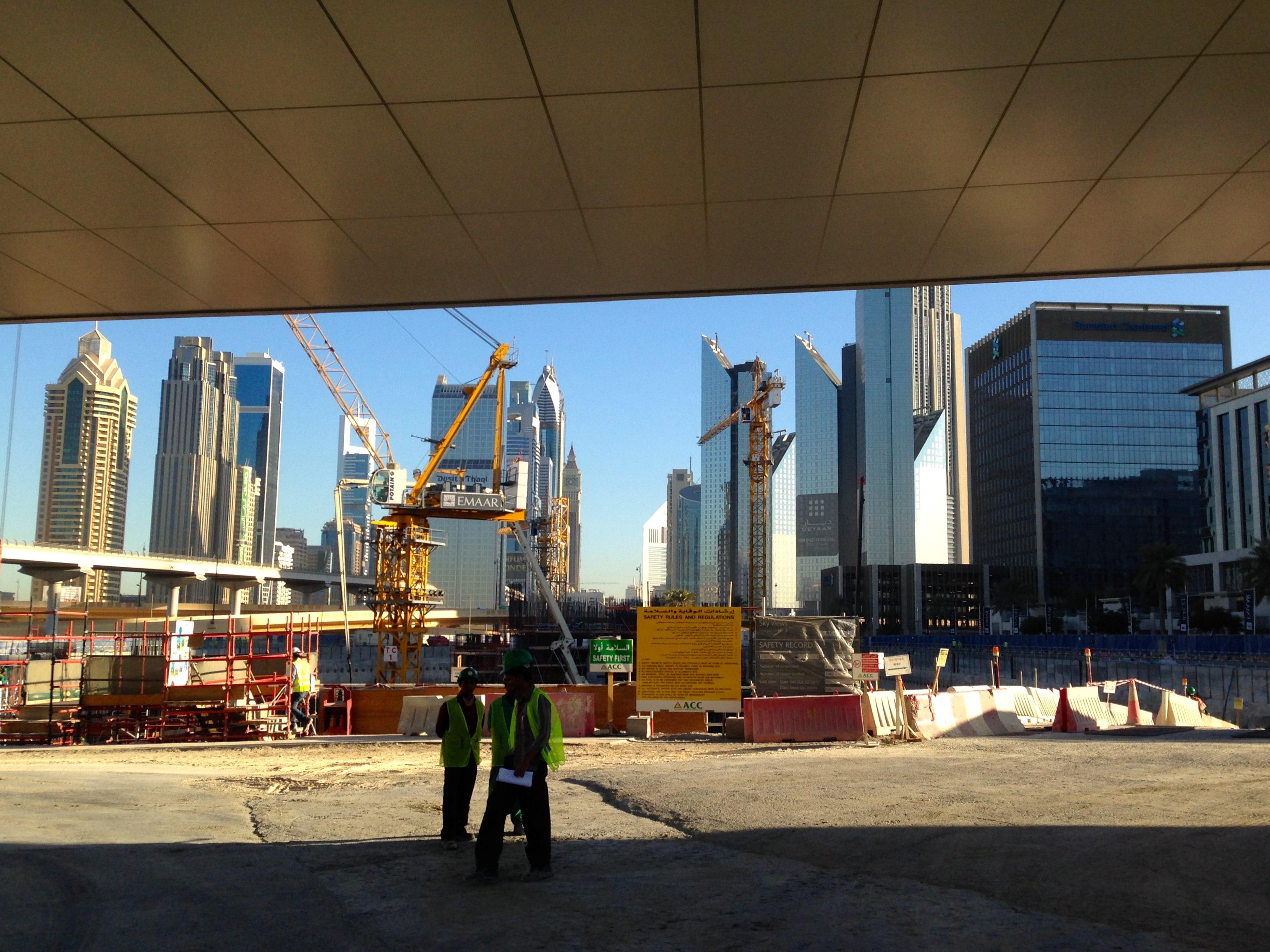 Qué ver en una escala en Dubai; obras y construcción