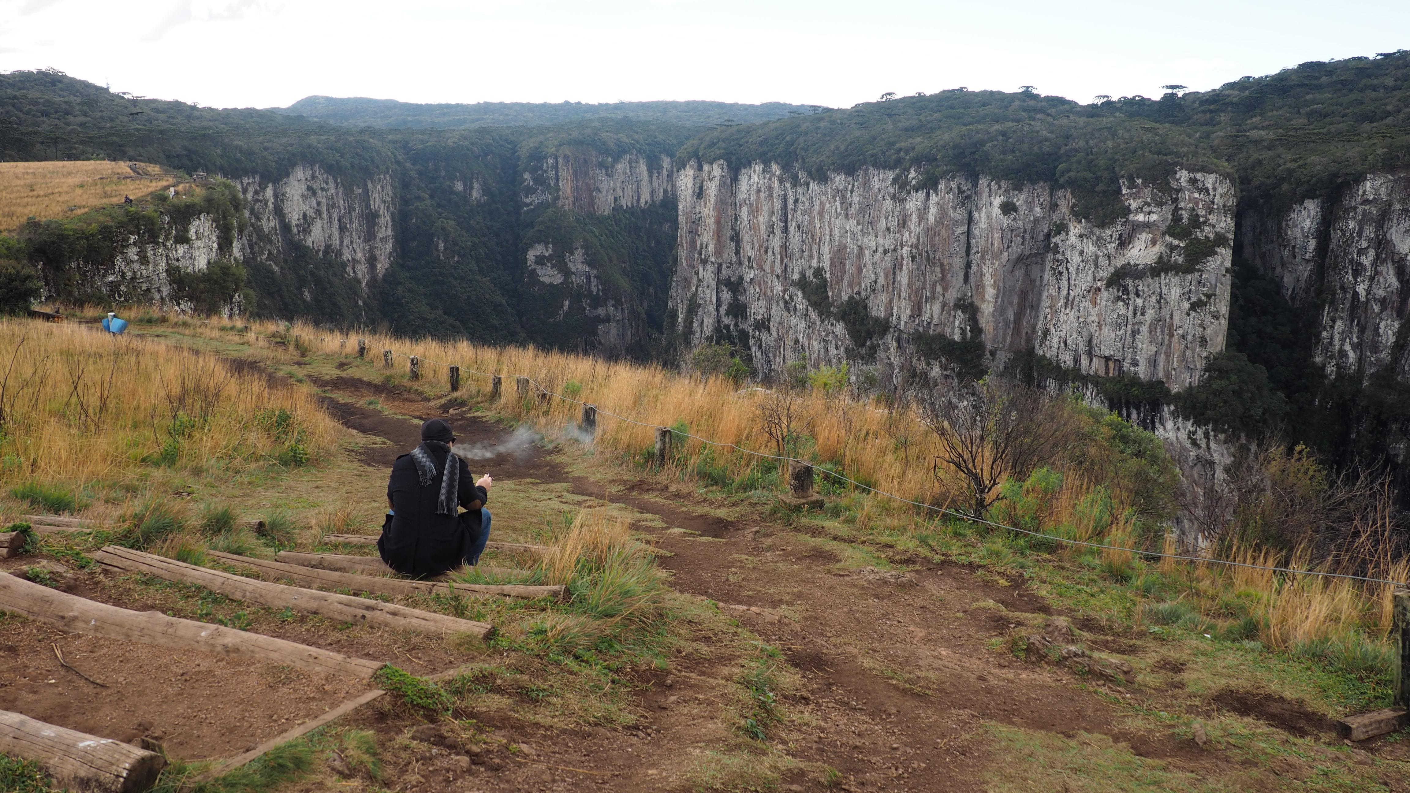 FInal del sendero del cañón de Itaimbezinho