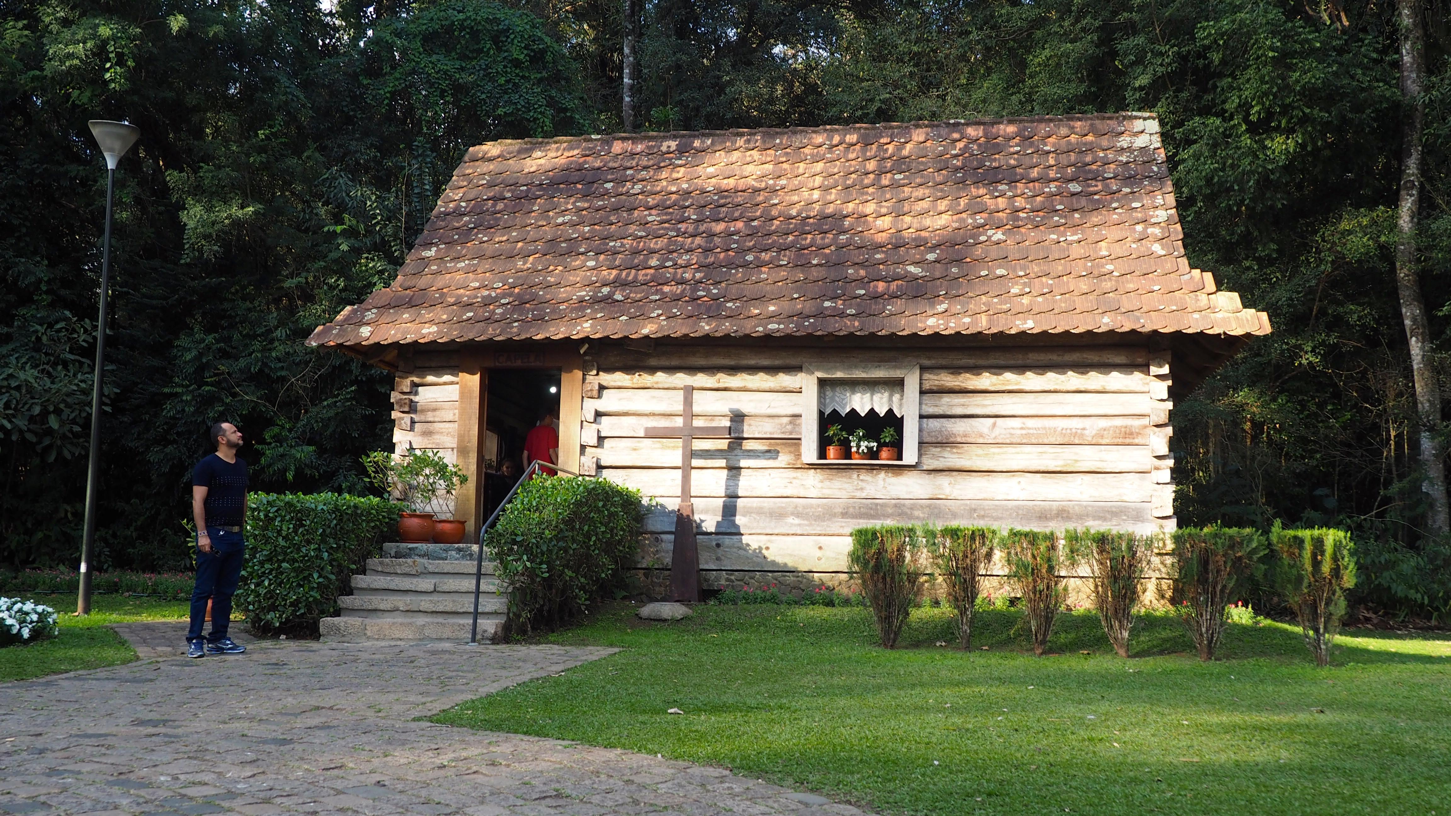 Recreación de una aldea polaca en el bosque Papa Juan Pablo II de Curitiba. Una de las cosas que ver en Curitiba