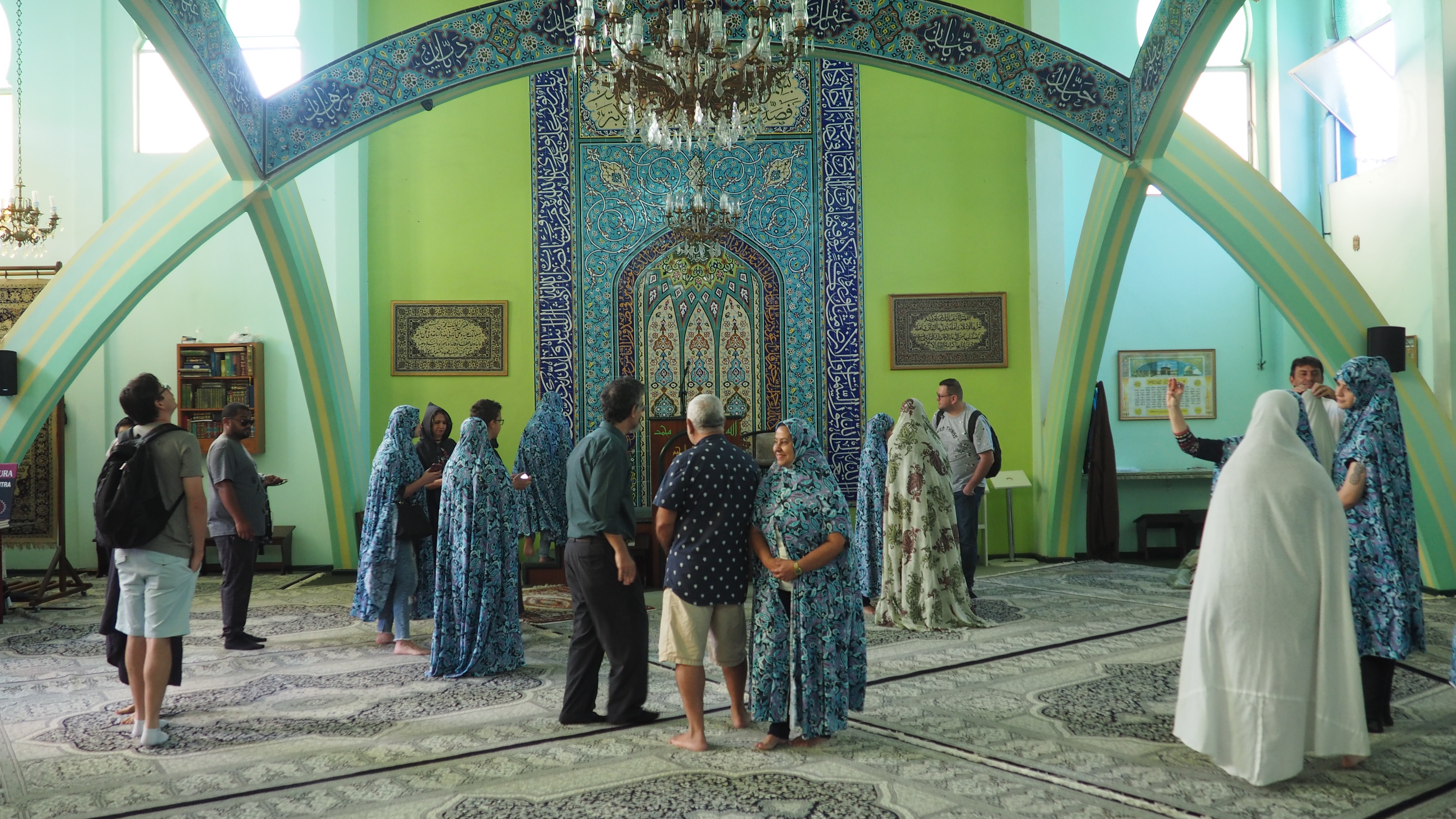 Interior de la Mezquita de Curitiba; una de las cosas que ver en Curitiba