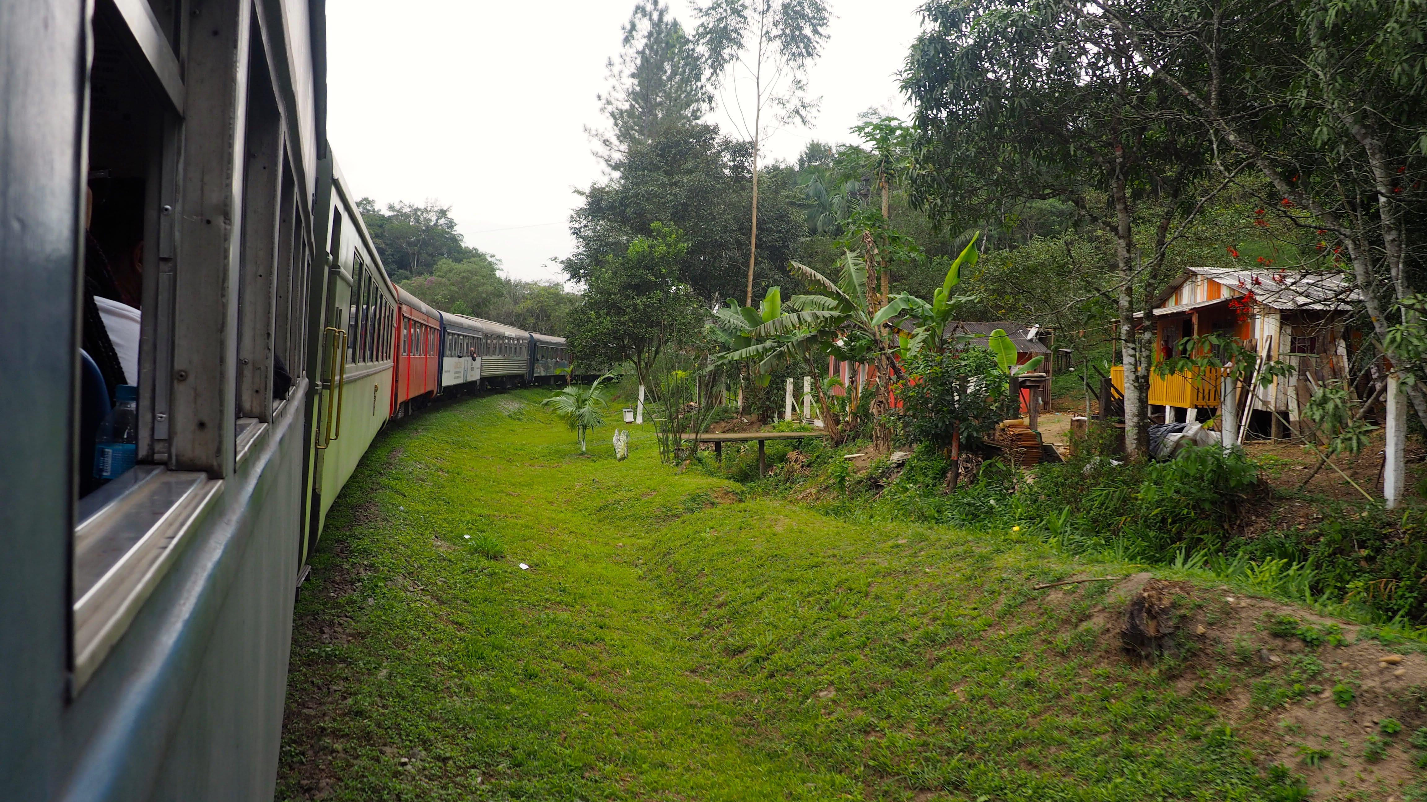 Casas alrededor de las vías del Tren Serra Verde Express
