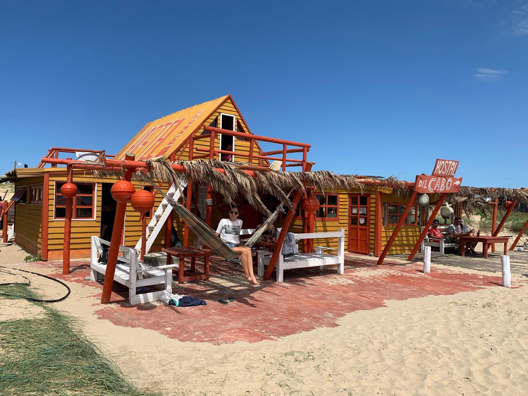 Hostal del Cabo; nuestro alojamiento en Cabo Polonio