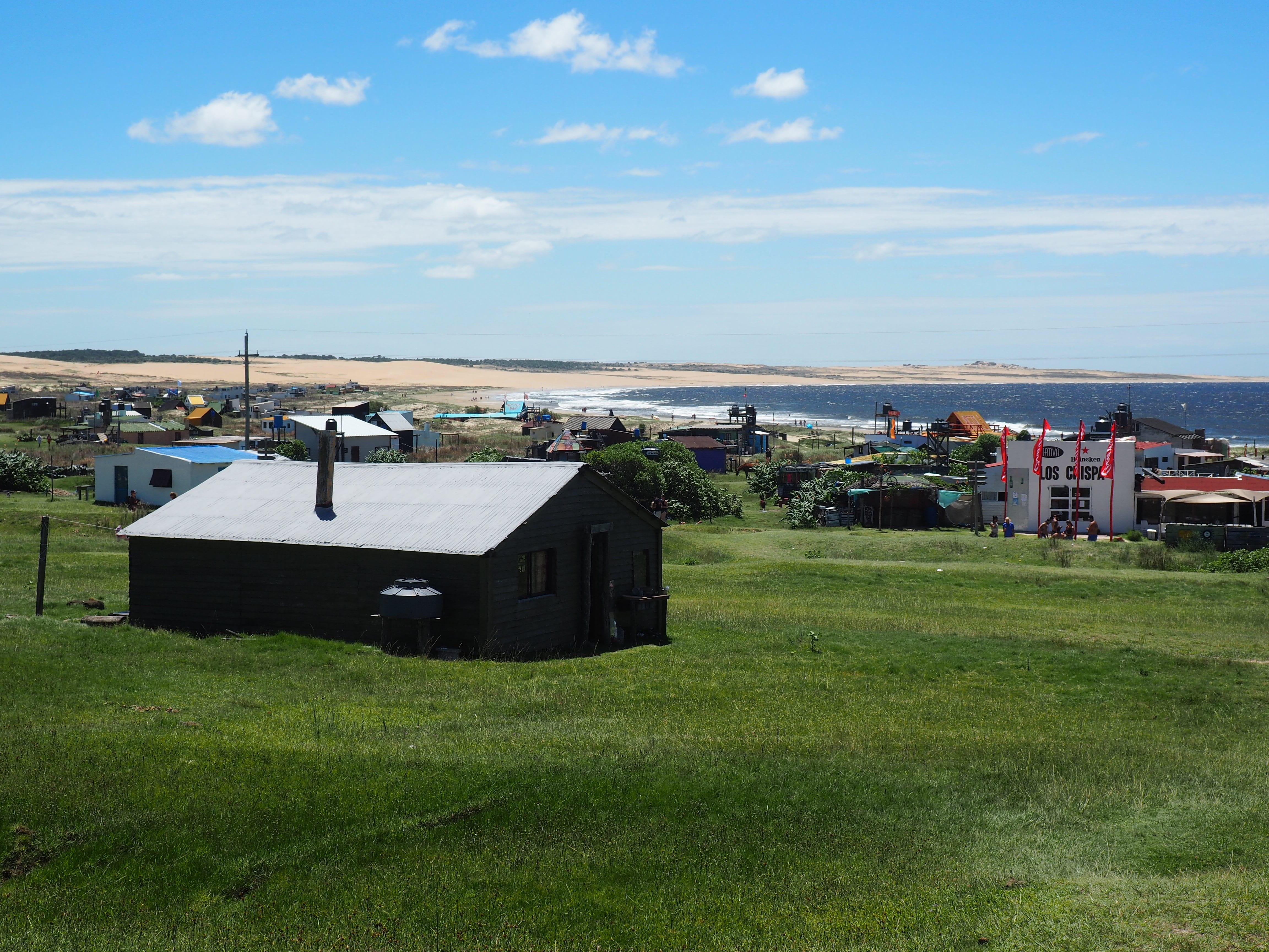 Vista del pueblo y la Playa Norte