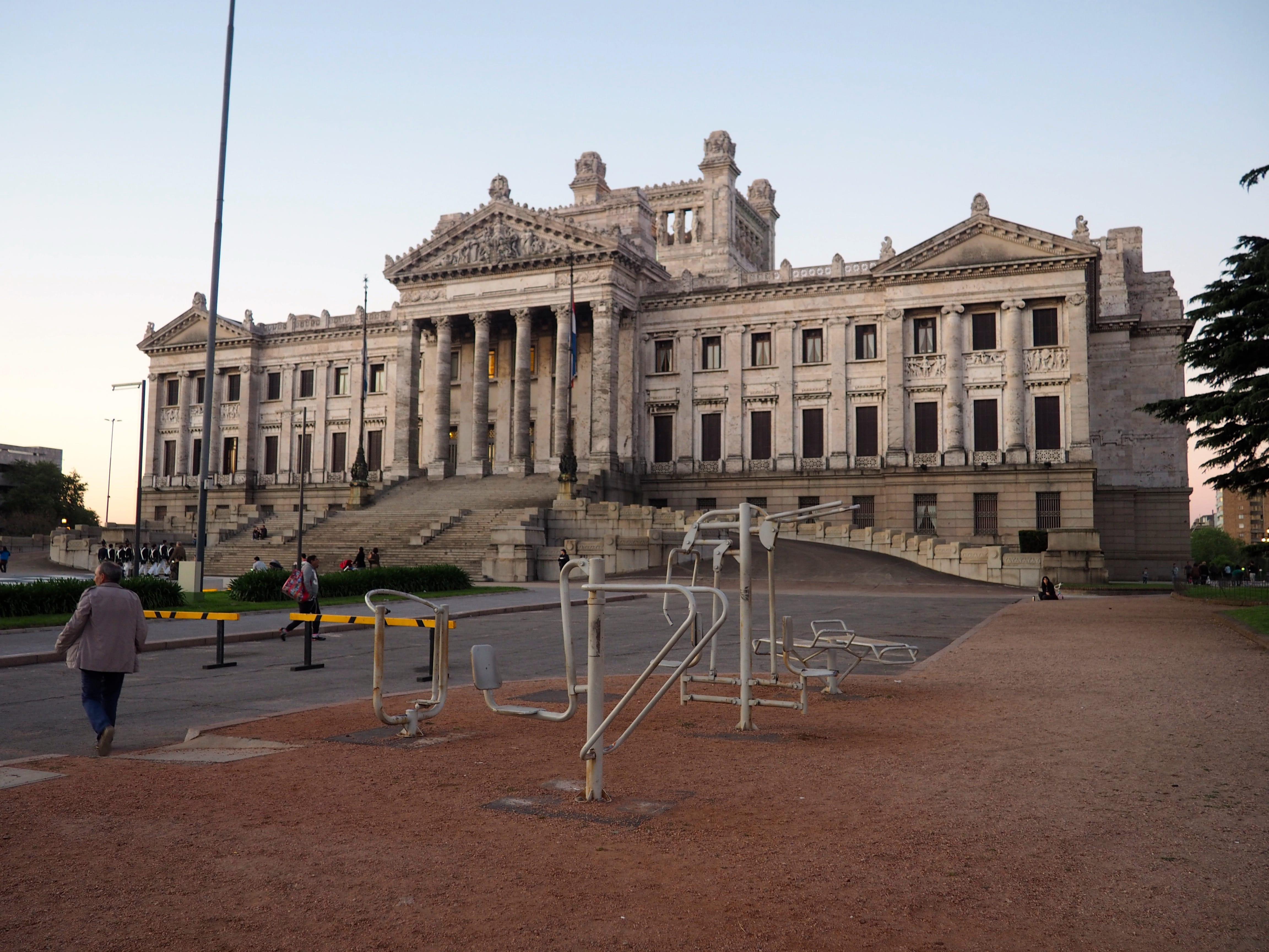 Palacio Legislativo en Montevideo