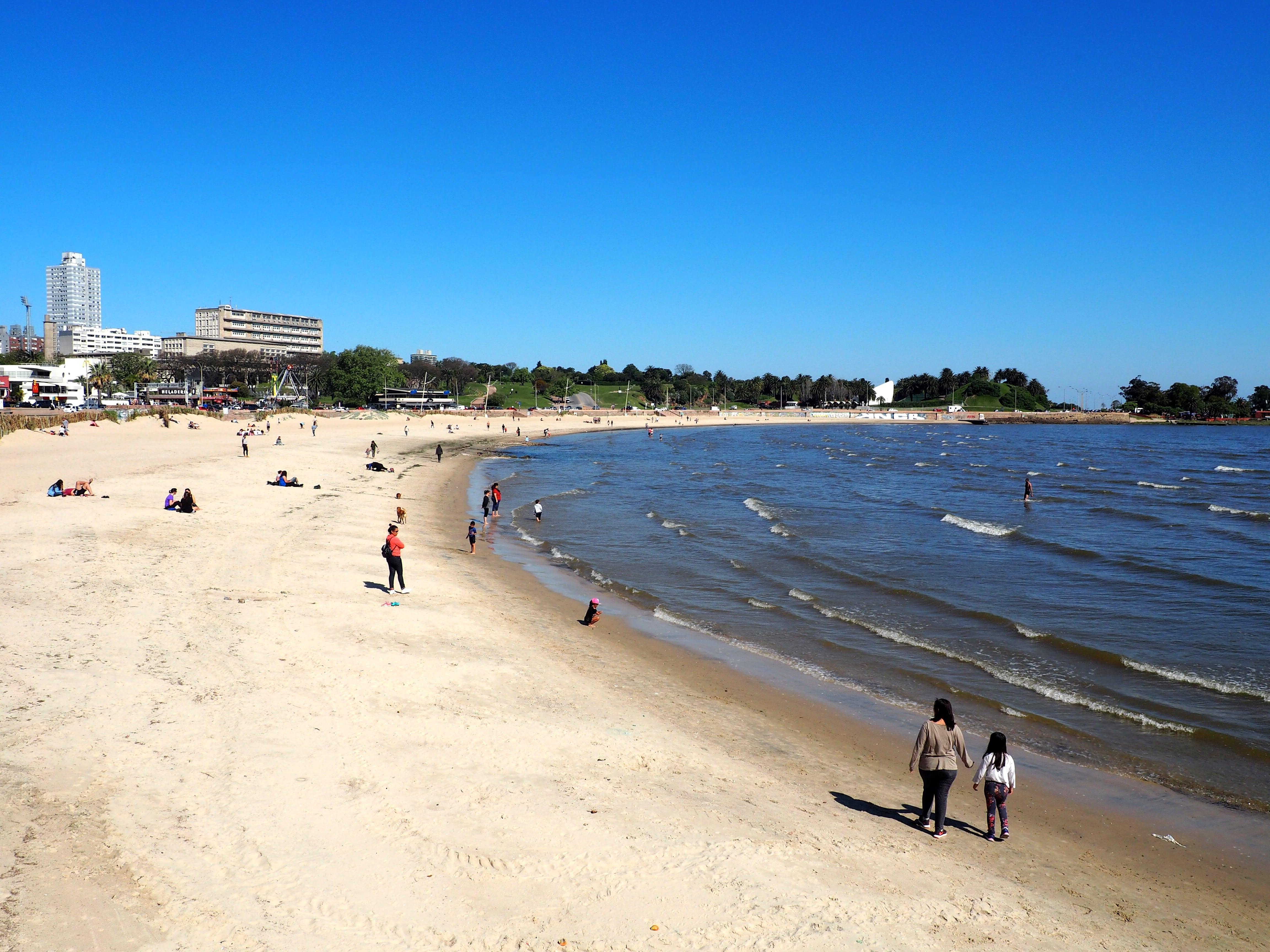 Playa Ramírez, en Montevideo