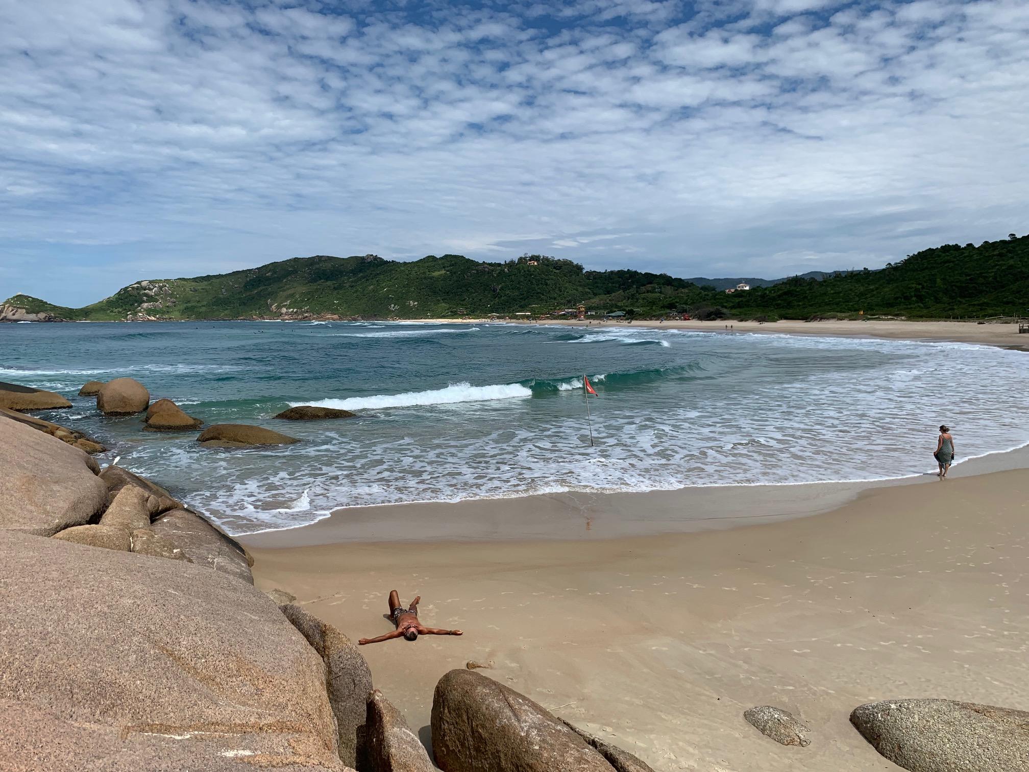 Una de las mejores playas de Florianópolis (Brasil)