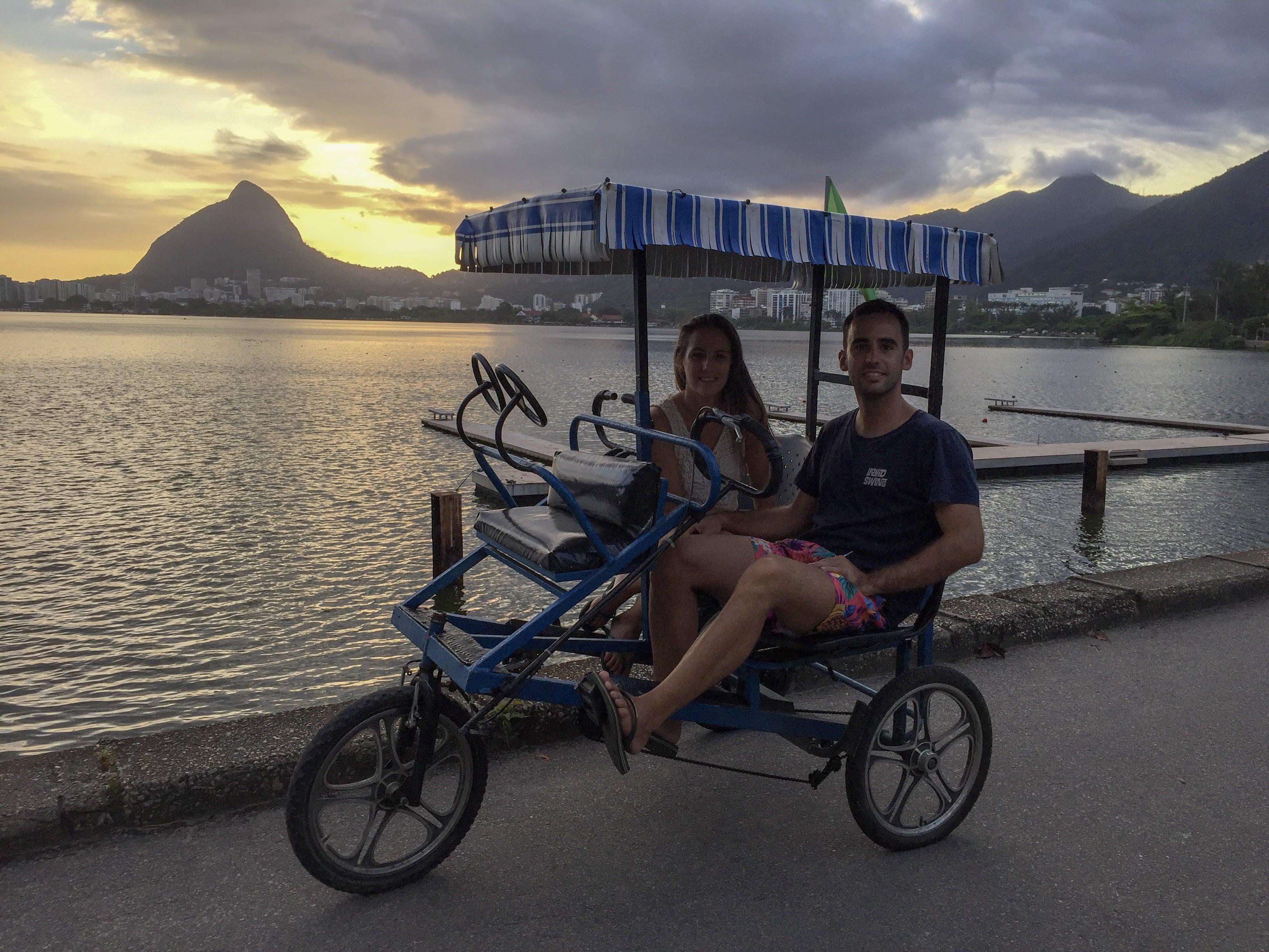 Vuelta en bici al lago Rodrigo de Freitas