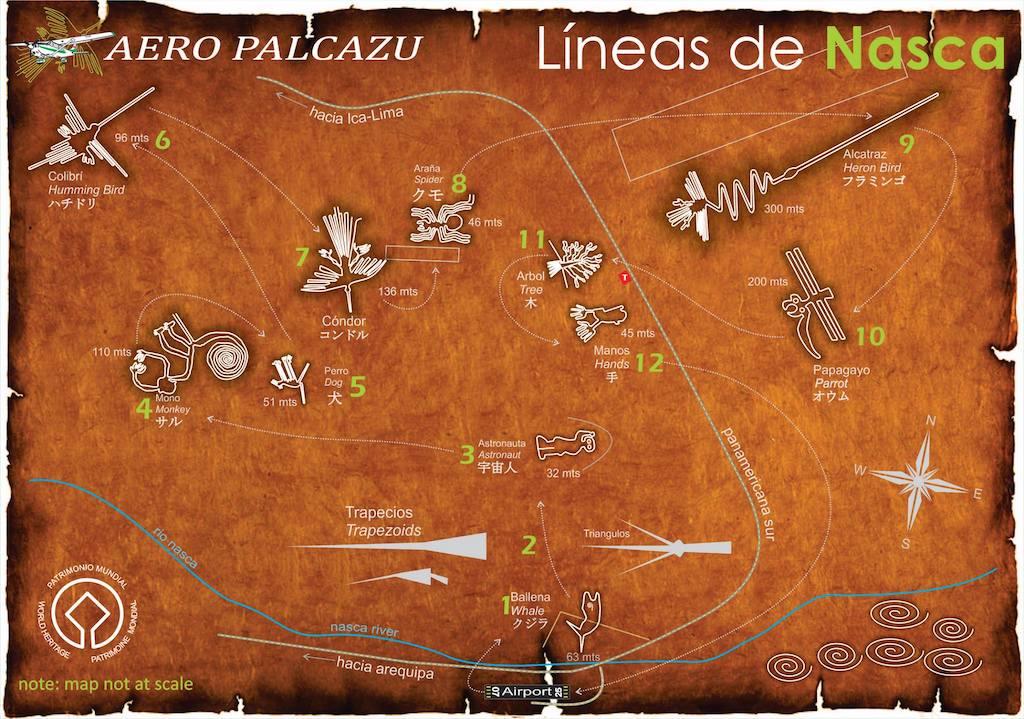 Mapa Líneas de Nasca Perú