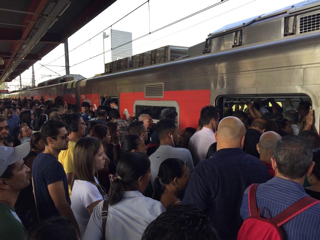 El Metro en hora punta