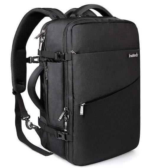 Mochila de viaje de trabajo de 40 litros, con compartimento para ordenador, ipad, pasaporte, tarjetas, etc.