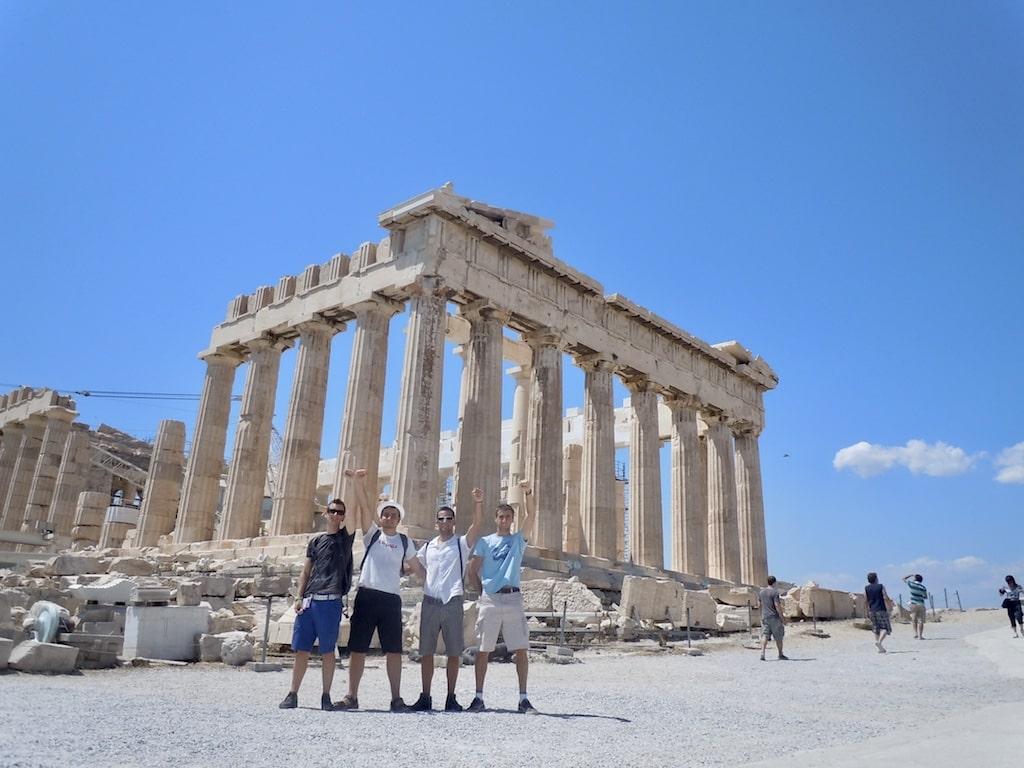 Partenon, la atracción principal de la Acrópolis de Atenas (Grecia)