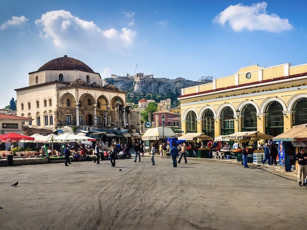 Barrio Monastiraki en Atenas (Grecia)