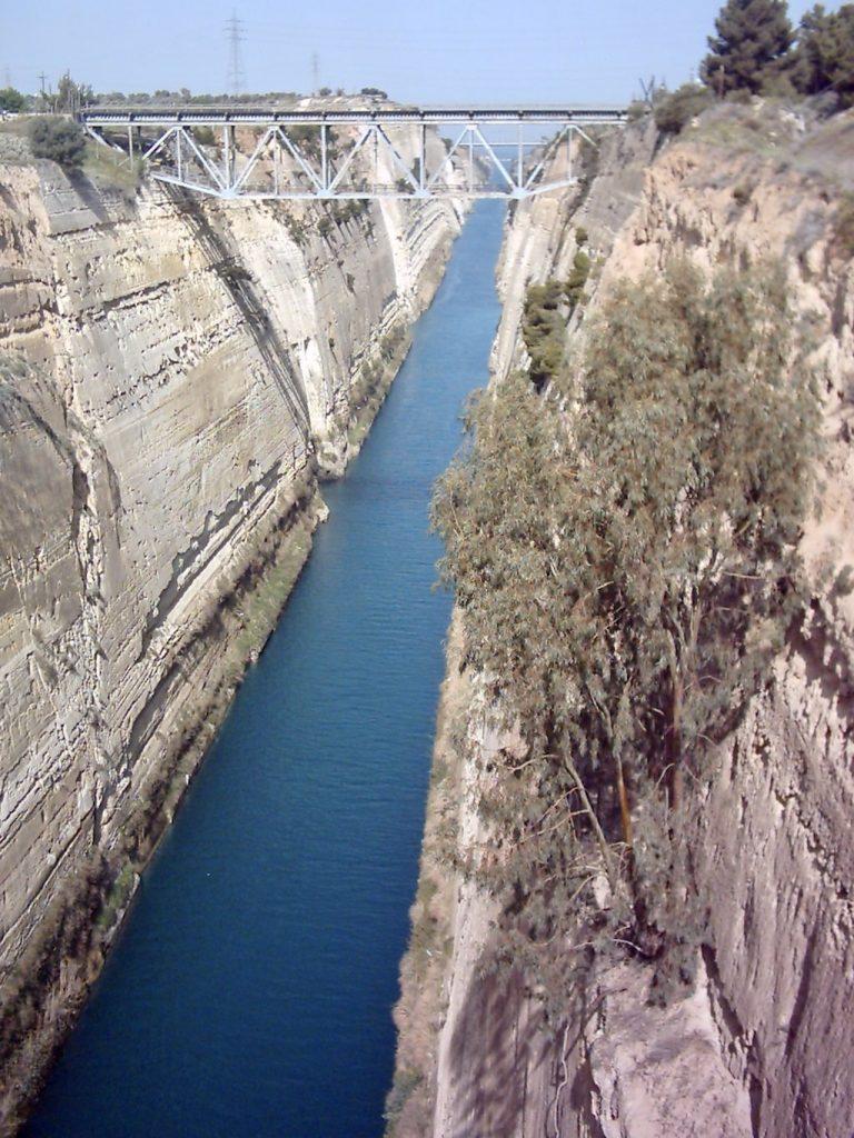 Canal de Corinto. Qué ver en Atenas en 4 días
