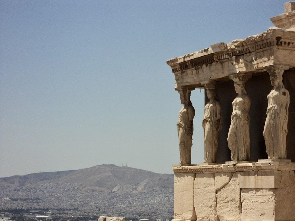 Las cariátides del Acrópolis de Atenas