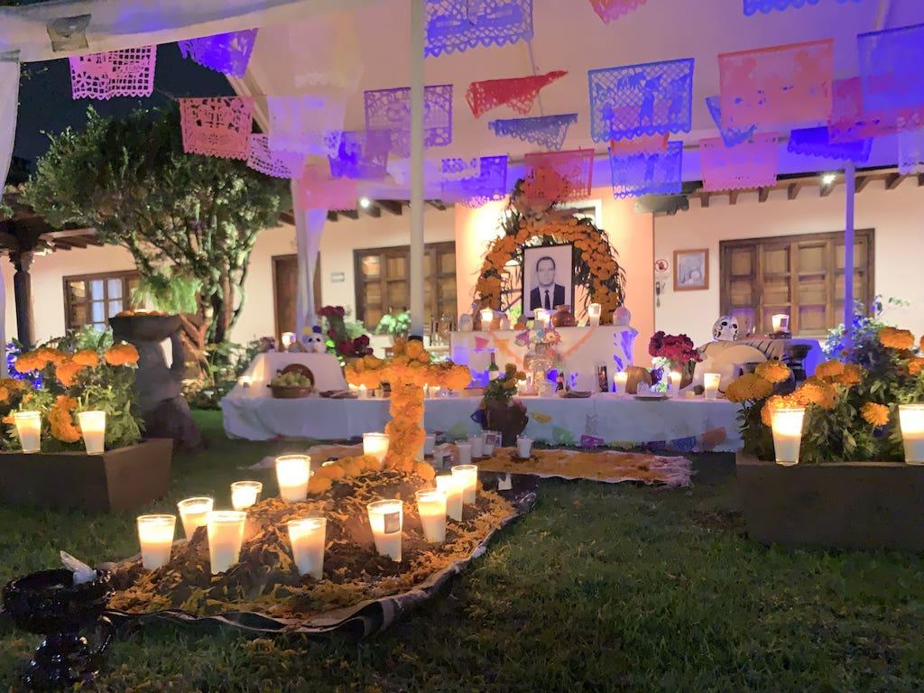 Altar de Día de Muertos en Pátzcuaro (México)